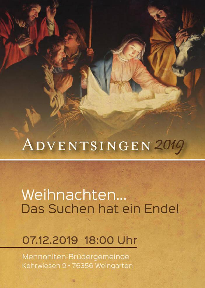 Adventsingen 2019 - Flyer
